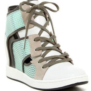 L.A.M.B. Gera Wedge Sneaker (used)
